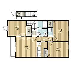 ベルタ6番館[2階]の間取り