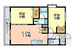 福岡県福岡市早良区干隈3丁目の賃貸マンションの間取り