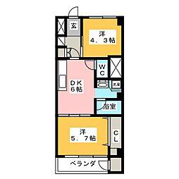 鈴木ビル[4階]の間取り