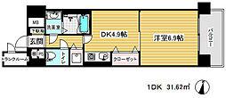 プレサンス神戸三宮[4階]の間取り