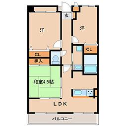 兵庫県尼崎市西本町2丁目の賃貸マンションの間取り