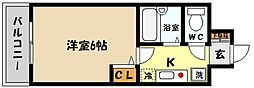 兵庫県神戸市東灘区御影本町2丁目の賃貸マンションの間取り