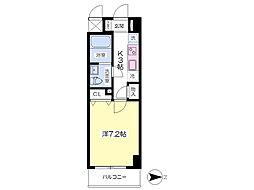 グランヴィラ成田赤坂 3階1Kの間取り