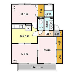K'SパビリオンB[2階]の間取り