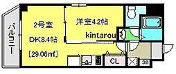 エクセレントコート千葉新宿[402号室]の間取り
