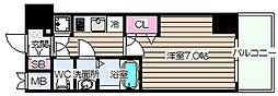 ファーストステージ梅田WEST[10階]の間取り