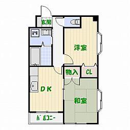 リーブル東和[3階]の間取り