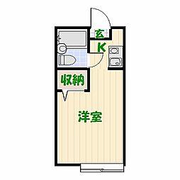 キャピタル中川[B-206号室]の間取り