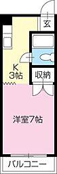 コーポ福島[205号室]の間取り