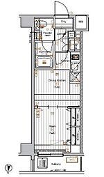 東京メトロ有楽町線 新木場駅 徒歩27分の賃貸マンション 1階1DKの間取り
