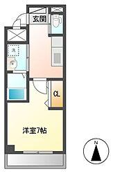 プランドール上中里[3階]の間取り