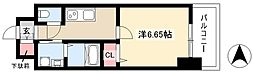 第18金山フクマルビル 5階1Kの間取り