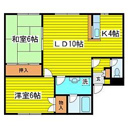 北海道札幌市東区本町一条8丁目の賃貸アパートの間取り