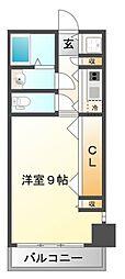 サニーサイド江坂[3階]の間取り
