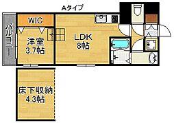 ハーモニーテラス西加賀屋[1階]の間取り