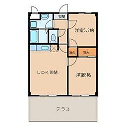 ピュアパレス・H1[103号室]の間取り