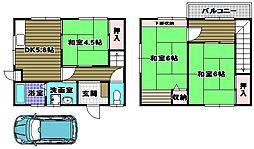 [テラスハウス] 大阪府河内長野市荘園町 の賃貸【/】の間取り