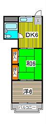 富士見ビル[603号室]の間取り