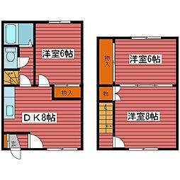 [テラスハウス] 北海道札幌市豊平区福住二条4丁目 の賃貸【/】の間取り