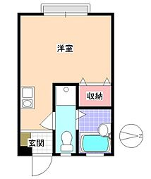 コーポ梅屋敷 bt[203kk号室]の間取り