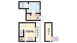 愛知県名古屋市南区東又兵ヱ町3丁目の賃貸アパートの間取り