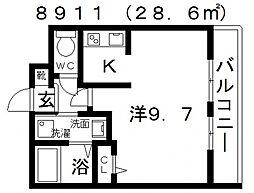 ステラウッド道明寺II[1階]の間取り