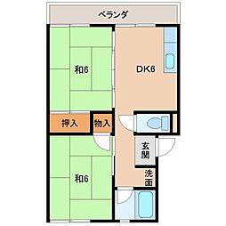 第2矢田マンション[3階]の間取り