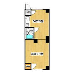 ホワイトキューブ[2-3号室]の間取り