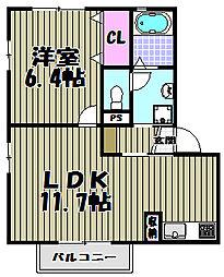 カーサバウムII[1階]の間取り