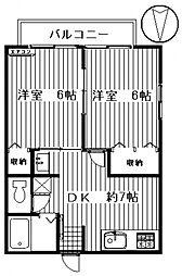 ドミールC[102号室号室]の間取り
