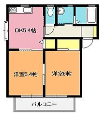グリーンコートD棟[1階]の間取り