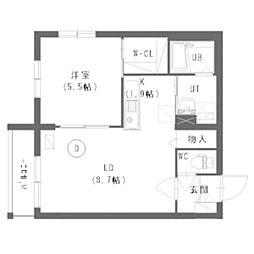 北海道札幌市中央区南十四条西6の賃貸マンションの間取り