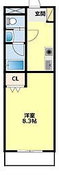 愛知県豊田市保見町松本の賃貸マンションの間取り