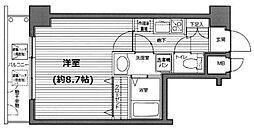 ガラ・ステージ市ヶ谷弐番館[7階号室]の間取り