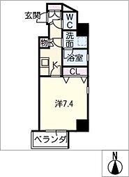 IARIM車道[6階]の間取り