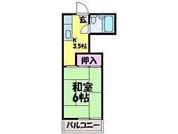 愛媛県松山市朝生田町2丁目の賃貸アパートの間取り