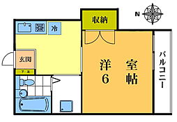 マートルプレイス北新宿[205号室]の間取り