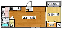 Osaka Metro四つ橋線 玉出駅 徒歩7分の賃貸マンション 3階1LDKの間取り