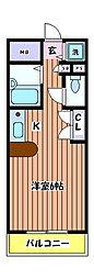 KWプレイス国立[4階]の間取り