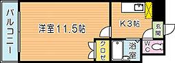 ロイヤルリージェント[1101号室]の間取り