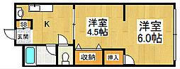 マンション安芸津[3階]の間取り