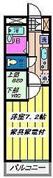 埼玉県さいたま市南区内谷2丁目の賃貸マンションの間取り