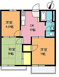 ドゥムール松澤 A棟[203号室]の間取り