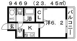 ARATA松原天美東(アラタ松原天美東)[102号室号室]の間取り