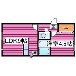 北海道札幌市東区北三十七条東17丁目の賃貸アパートの間取り