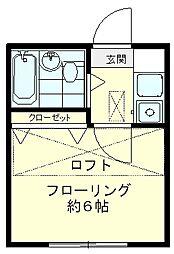 グリーンハイム多磨[203号室]の間取り