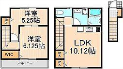 ビオーレ 3階2LDKの間取り