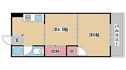兵庫県神戸市中央区南本町通2丁目の賃貸マンションの間取り