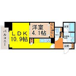 プレサンス広小路通葵 14階1LDKの間取り