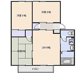 広島県広島市西区観音新町2丁目の賃貸アパートの間取り